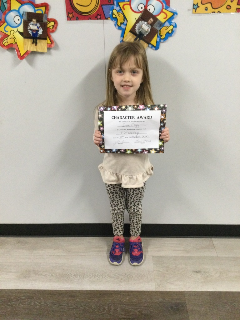 Kg November Student of the Month